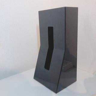 フランフラン(Francfranc)のシンプル!ティッシュケース 【黒】(ティッシュボックス)