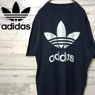 アディダス(adidas)の【激レア】アディダス adidas☆プリントバックフロントビッグロゴ Tシャツ(Tシャツ/カットソー(半袖/袖なし))