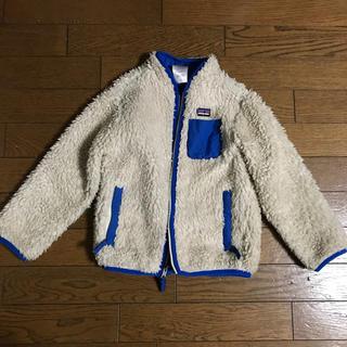 パタゴニア(patagonia)のパタゴニアキッズ5Tボアフルジップジャケット110120130ブルー(ジャケット/上着)