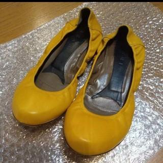 マルニ(Marni)のMARNIバレエシューズ37黄色★マルニパンプス靴(バレエシューズ)