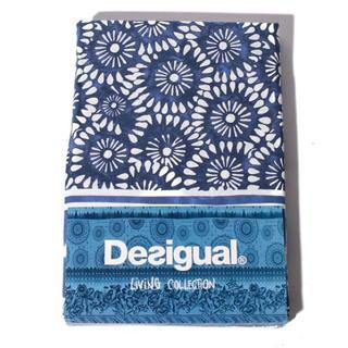デシグアル(DESIGUAL)の新品♡定価9900円 デシグアル  ベッドカバー &ピローケース ブルー系⭐️(シーツ/カバー)