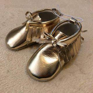 オールドネイビー(Old Navy)の新品◾︎ 10cm ゴールドbabyファーストシューズ◾︎新生児用出産祝ブーツ(スニーカー)