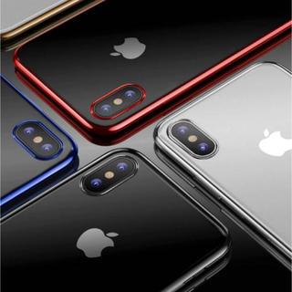 シンプルクリアケースiPhoneX XS XR 7 8(iPhoneケース)