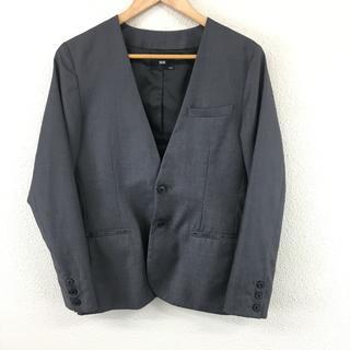 HARE - 美品 ハレ HARE ノーカラー ジャケット S グレー ウール フォーマル