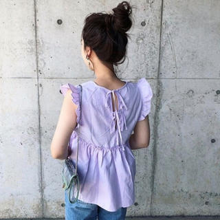 ZARA - frill candy blouse ラベンダー