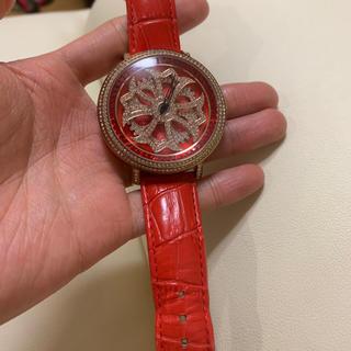 モエリー(MOERY)のアンコキーヌ 激レア レッドスワロフスキー時計(腕時計(アナログ))