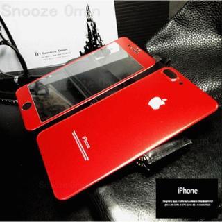 (前後)チタン製強化ガラス保護フィルム/レッド【限定色】(iPhoneケース)
