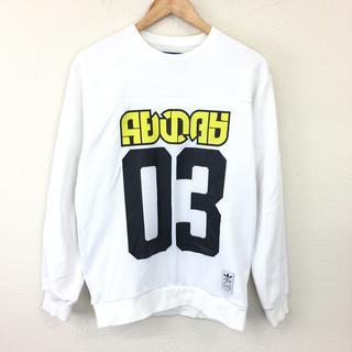 アディダス(adidas)の美品 アディダス adidas セーター M ホワイト プリント(ニット/セーター)