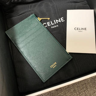 セリーヌ(celine)のCELINE <新品> ジップドカードコインケース アマゾン(名刺入れ/定期入れ)