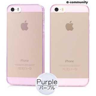 スマホケース パープル iPhone SE カバー 超薄 ソフト シンプル 柔軟(iPhoneケース)