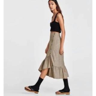 ザラ(ZARA)のZara チェックマーメイドスカート (ロングスカート)