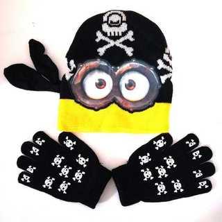 【新品】海賊ミニオン ニット帽 手袋 子供用  怪盗グルー USJ(帽子)