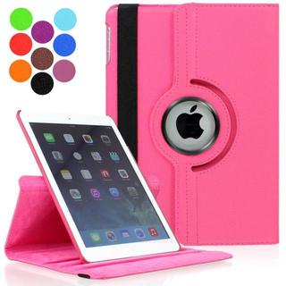 iPad5/6 (第5世代/6世代) ゴムバンド 360度回転 手帳型ケース(iPadケース)