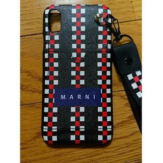 マルニ(Marni)のmarni iphoneX/XSハードケース ストラップ、ポケットつき(iPhoneケース)