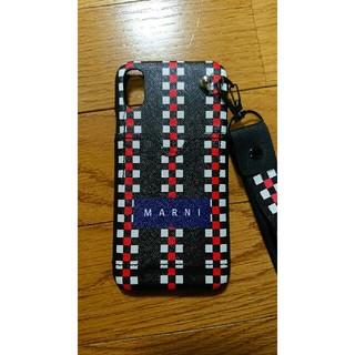 マルニ(Marni)のmarni iphoneXR ハードケース ストラップ、ポケットつき(iPhoneケース)