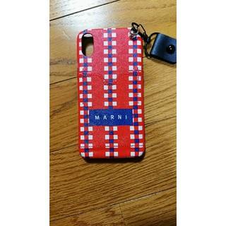 マルニ(Marni)のmarni iphoneXRケース ストラップ、ポケットつき(iPhoneケース)