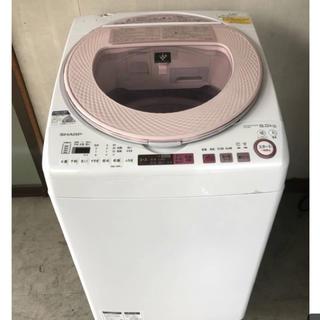 シャープ(SHARP)の2016年製 SHARP 洗濯乾燥機 ES-TX8A プラズマクラスター(洗濯機)
