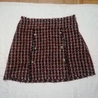 ザラ(ZARA)の《ZARA WOMAN/ザラ ウーマン》ツィード スカート/S/中古品(ミニスカート)