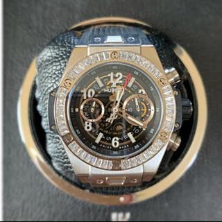ウブロ(HUBLOT)のH製 BIG UNICO チタン・シルバー 黒ダイアル  自動巻  (腕時計(アナログ))
