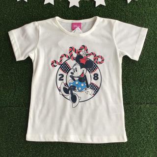 Disney - ★【 120 】 ミニー 半袖 Tシャツ ミニーちゃん キナリ マリン