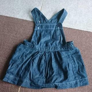 ベビーギャップ(babyGAP)のbabyGAP デニム ジャンパースカート 18~24ヶ月(ワンピース)