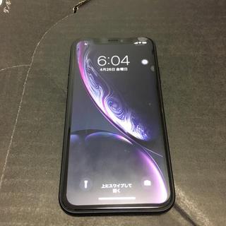 アイフォーン(iPhone)のau iPhoneXR 64GB BLACK(スマートフォン本体)