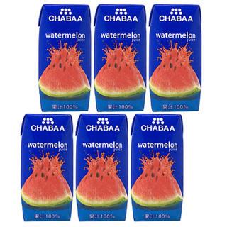 CHABAA(チャバ) 100%ジュース   ウォーターメロン 180ml×6