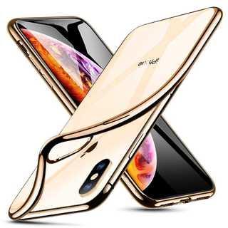 ESR iPhone Xs Max対応 スマホケース(メッキ・ゴールド)(スマホアクセサリー)