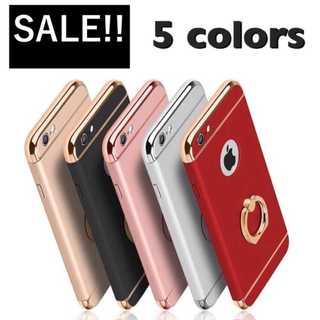 大人気 リング一体型でフイット感抜群 全5色 シンプル⚡️p(iPhoneケース)