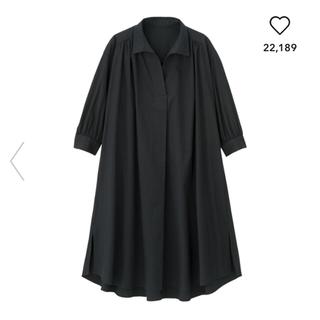 ジーユー(GU)の【新品】GU ジーユー Aラインシャツワンピース 今季(ひざ丈ワンピース)
