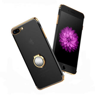【ゴールド】iPhoneX 360度 バンカーリング リング バンパー 風(iPhoneケース)