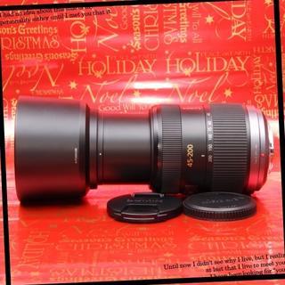 パナソニック(Panasonic)の【極上】大迫力大満足超望遠レンズ パナソニック45-200mm(レンズ(ズーム))