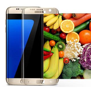 Galaxy S8 【ゴールド】ガラスフィルム 保護フィルム 全画面 9H(保護フィルム)