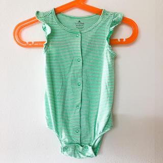 ベビーギャップ(babyGAP)のbabygap袖フリルロンパース60(ロンパース)