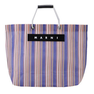 マルニ(Marni)の新品◇MARNI マルニフラワーカフェ ストライプバック ブルー(トートバッグ)
