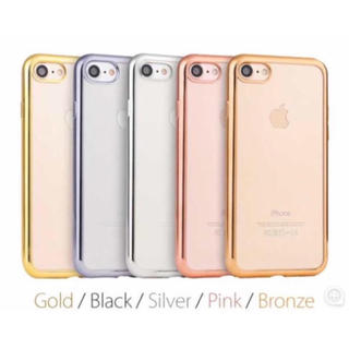 (人気商品) iPhone メッキ加工クリアケース (5色)(iPhoneケース)