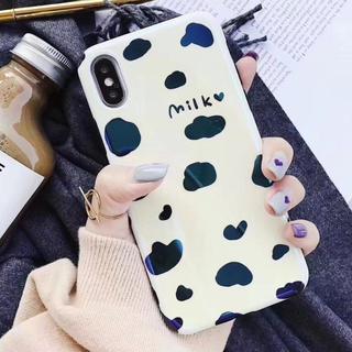 ♡ milk ♡   アイフォン7ケース  可愛い  牛柄模  iPhone (iPhoneケース)
