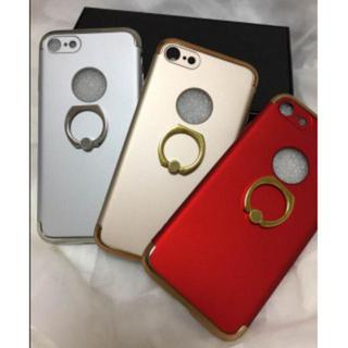 ゴールド iPhone8 / 7 plusリング付き スマホケース マット調(iPhoneケース)