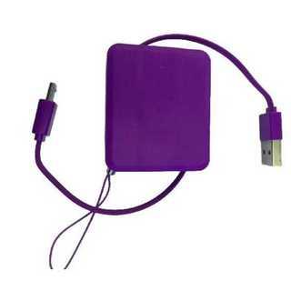 充電コード パープル Android 巻取 収納 コンパクト micro USB(その他)