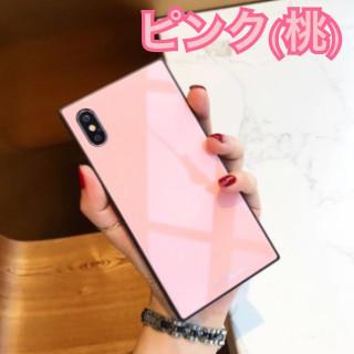 ⭐️SALE⭐️SNS映え♡【スクエア型 iPhoneXケース】ピンク(iPhoneケース)