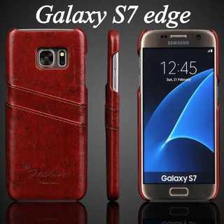1 ★ GALAXY s7 edge用 レザー ケース カバー ★(Androidケース)