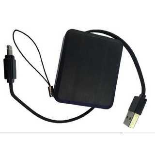 充電コード ブラック Android 巻取 収納 コンパクト micro USB(その他)