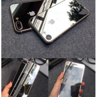 iPhone7鏡面ガラスシート シルバー(iPhoneケース)