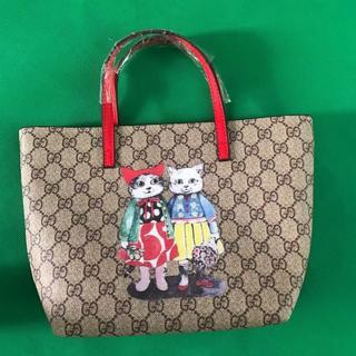 グッチ(Gucci)の綺麗なグッチカップル猫ショッピングバッグ早い者勝ち(トートバッグ)