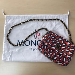 モンクレール(MONCLER)の美品 MONCLER 確実正規品 アニマル総柄 レザーショルダーバッグ(ショルダーバッグ)