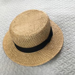 ビームスボーイ(BEAMS BOY)のcableami×beamsboy ボーターハット カンカン帽(麦わら帽子/ストローハット)