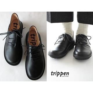 トリッペン(trippen)の新品 定価51840円 トリッペン HAFERL レースアップレザーシューズ35(ローファー/革靴)