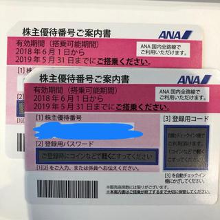 エーエヌエー(ゼンニッポンクウユ)(ANA(全日本空輸))のANA 株主優待 二枚セット (その他)