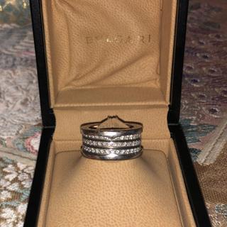 ブルガリ(BVLGARI)のお値下げ! BVLGARI💎BZERO1 4バンド 18KWG ダイヤモンド(リング(指輪))