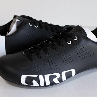 ジロ(GIRO)の★ Giro ジロ エンパイア ACC EU42 黒白 EASTONカーボン(ウエア)